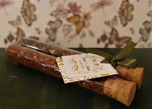 Detalles para bodas: Probeta con té