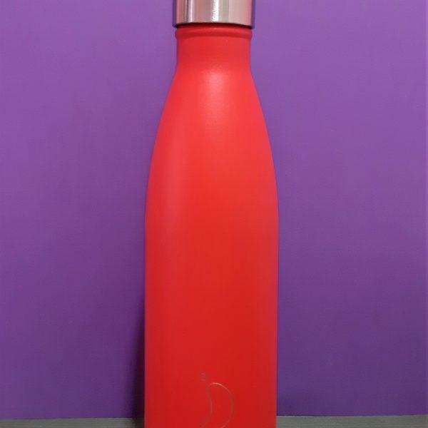 Botella Chilly Rojo Neón