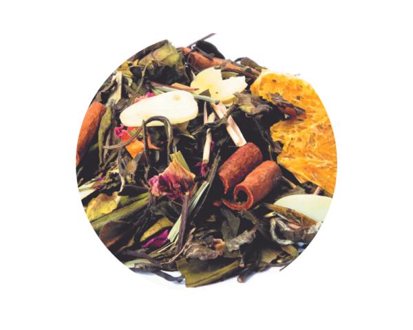 Té blanco Naranja y Almendras