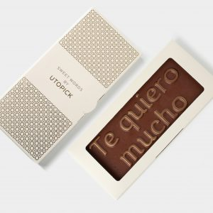 Chocolate con leche Te quiero Mucho