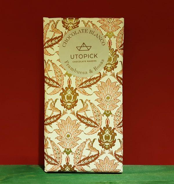 Chocolate Blanco Frambuesa y Rosas