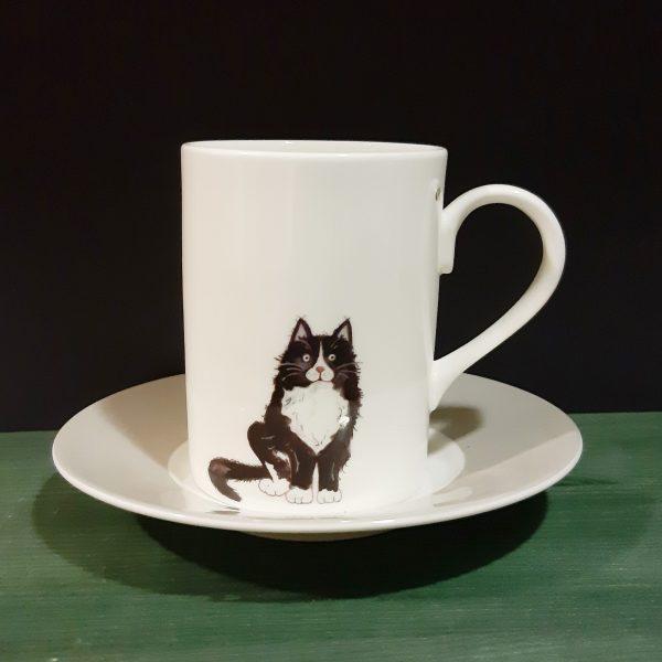 Mug con plato Cats