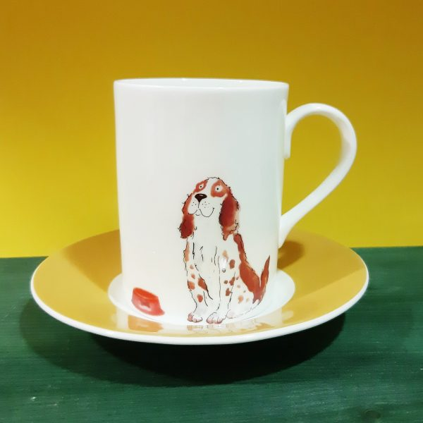 Mug con plato Dogs