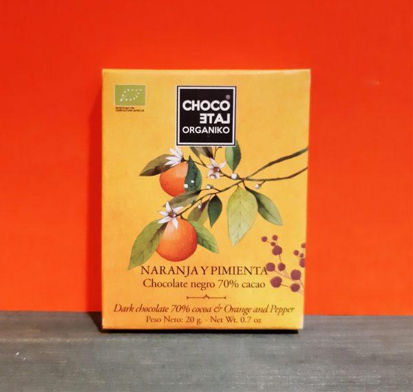 Mini Chocolate negro con Naranja y Pimienta