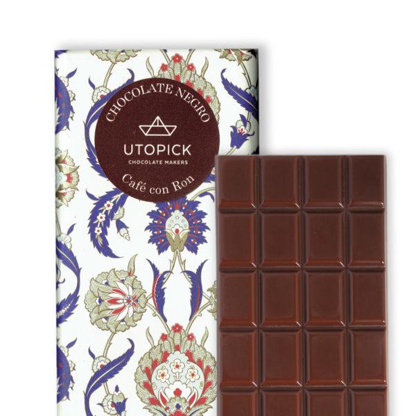 Chocolate negro con Café Flambeado