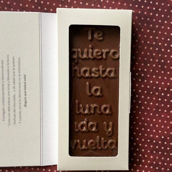 Chocolate Te quiero hasta la Luna