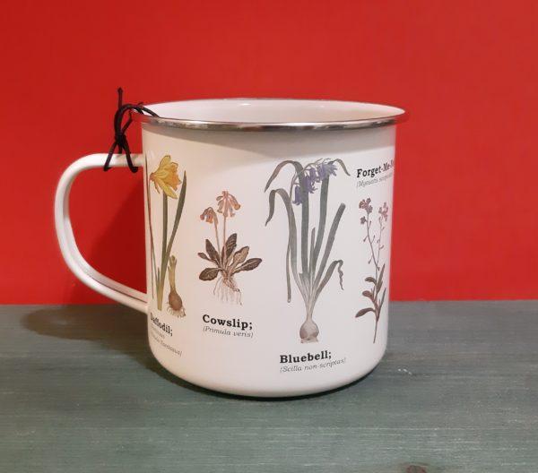 Mug Enamel Botánica