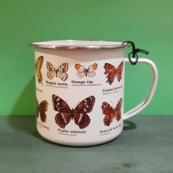 Mug Enamel Mariposas