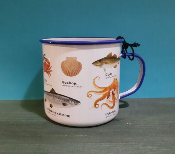 Mug Enamel Sealife