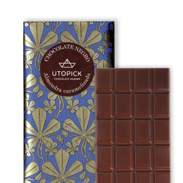 Chocolate negro con Almendra Caramelizada