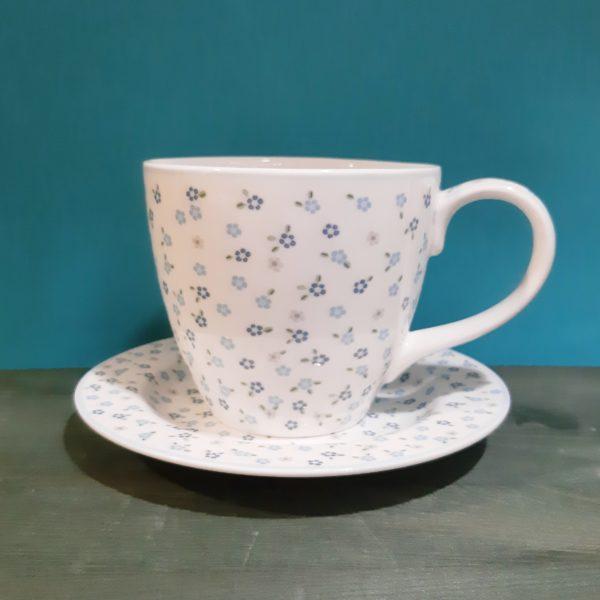 Juego de taza y plato Elise