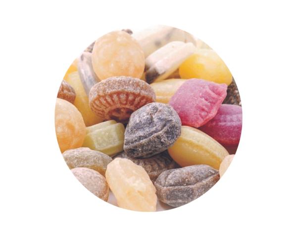 Caramelos naturales con té