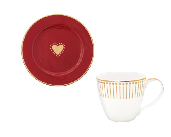 Juego de taza y plato Love